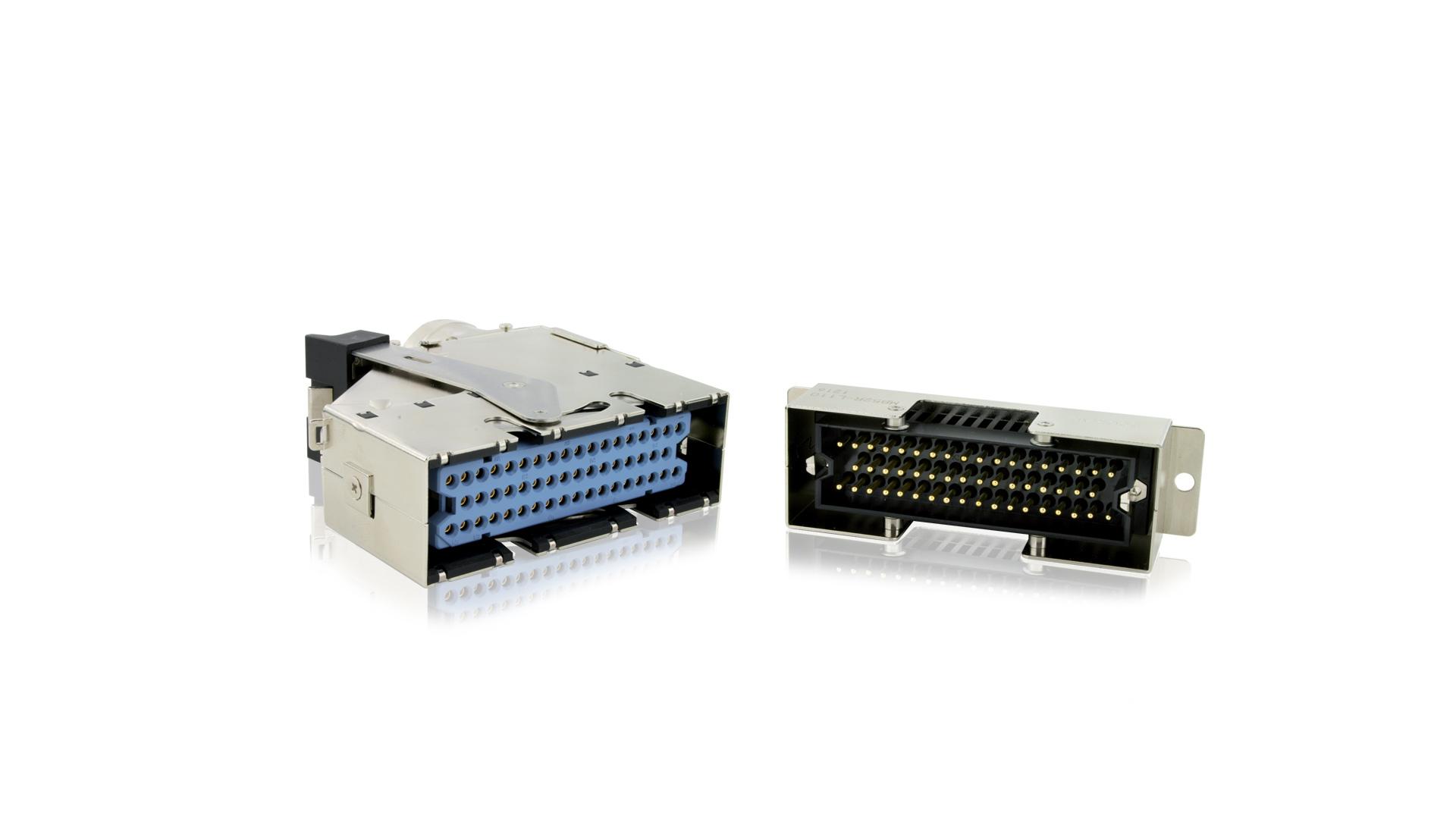 High density rectangular connector